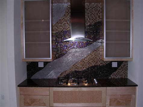 wave backsplash contemporary kitchen milwaukee by