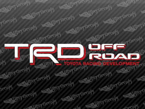 Toyota Road Decals Toyota Trd Road Decal Stickers