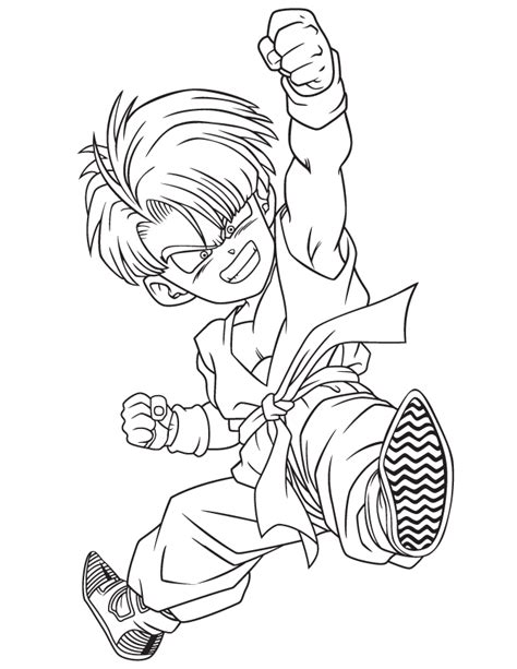 dragon ball z trunks coloring pages free coloring pages of chi chi dbz