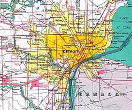 detroit map of us detroit michigan plan michigan
