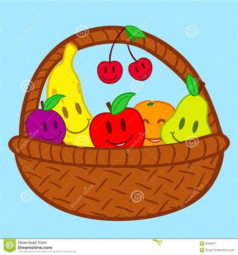 doodle basket fruits in basket doodle smile royalty free stock