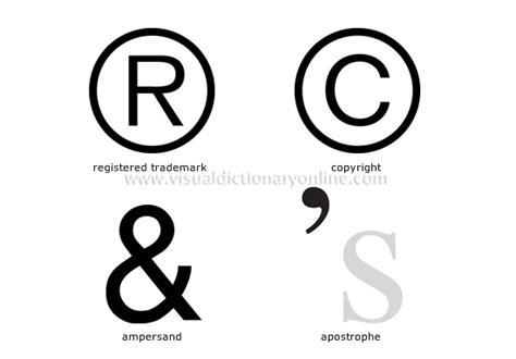 registered trademark sign on keyboard