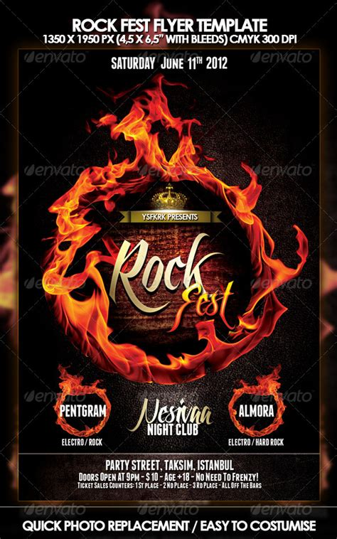 the rock template rock flyer template by ysfkrk graphicriver