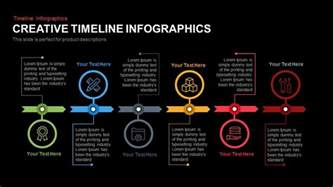 creative timeline infographics powerpoint and keynote