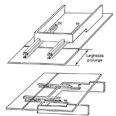 guide scorrevoli per tavoli guida per tavolo con telaio allu nobili ferramenta