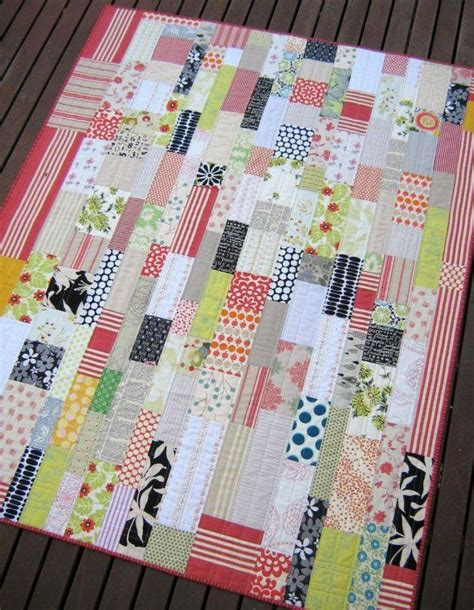 Just Patchwork - just bricks modern patchwork quilt