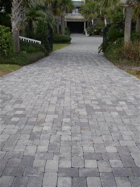 Cobblestone Patio Pavers Tumbled Cobblestone Concrete Paver Driveway Driveways Colors Larger And Inspiration