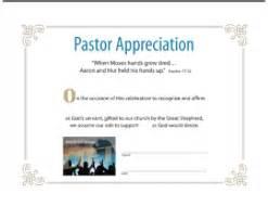 pastor appreciation certificate template pastor appreciation award certificates breeds picture