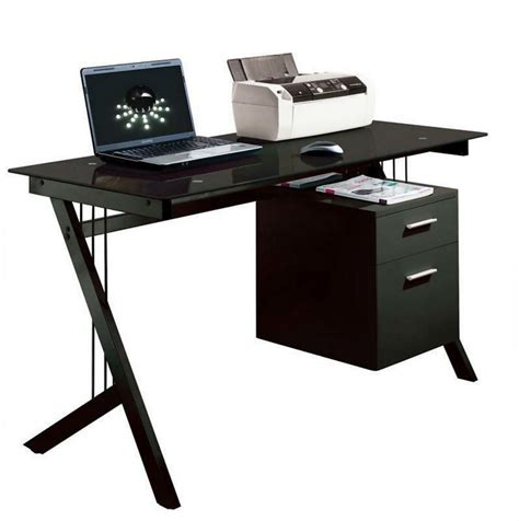 Black Glass Computer Desks For Home Modern Computer Desk Office Furniture
