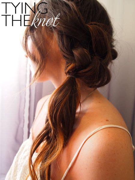 casual updos diy pretty braid tutorial hair tutorials pinterest