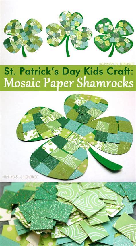 Paper Craft Supplies Ireland - st s day craft mosaic paper shamrocks