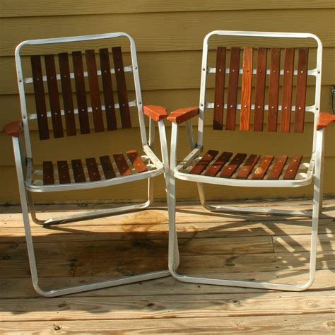 Vintage Patio Chairs Vintage Folding Lawn Chairs Mid Century Modern By Rhapsodyattic