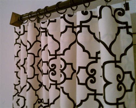 Peri Drapes Famous Cream And Black Shower Curtain Pictures Inspiration