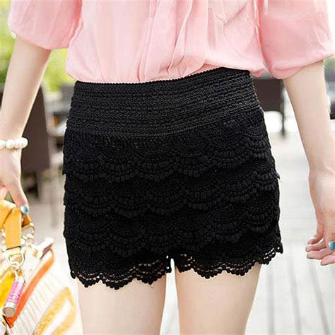 5 Sweet And Shorts Styles by Plus Size Womens Shorts Sweet Style Lace Crochet Elastic