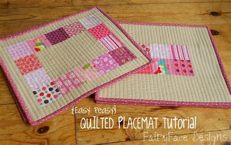How To Make Quilted Placemats by Fairyface Designs Easy Peasy Quilted Placemats Tutorial
