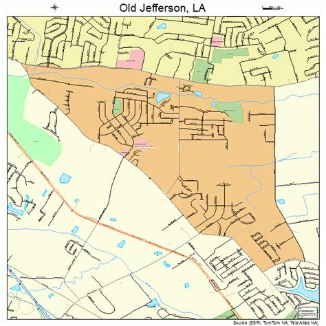 Jefferson L jefferson louisiana map 2257705