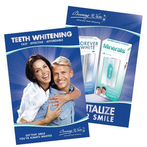 teeth whitening posters beaming white