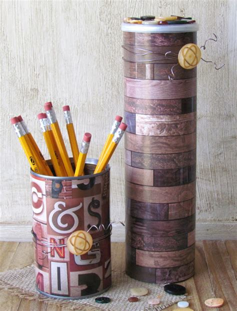 guy home decor upcycled containers for dad ribbons glue