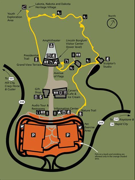 mt rushmore map maps mount rushmore national memorial u s national park service