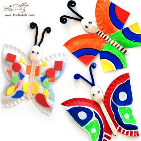Paper Plate Butterfly Craft - craftionary