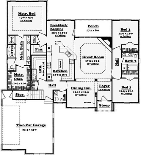 Pantry Crossword by Plan 11709hz Major Curb Appeal Traditional House Plans