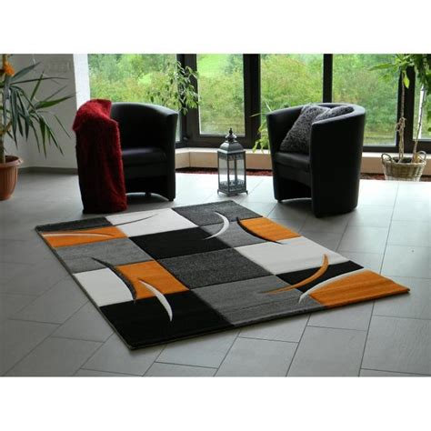 Tapis Design Salon by Tapis Design Pour Salon Orange 120 X 170 Cm Achat