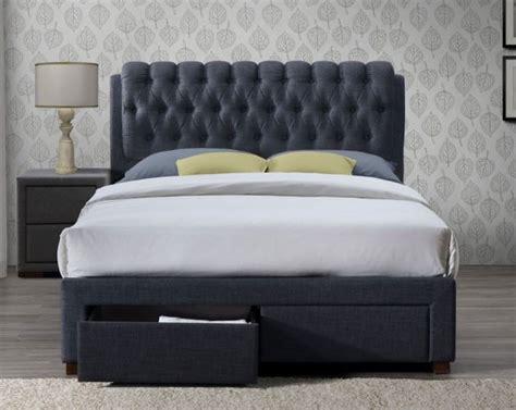 Valencia Bed Frame Valencia Charcoal Fabric 2 Drawer Bed Frame Bed Frames Bed Frames
