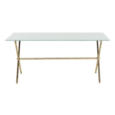safavieh home collection brogen gold accent table safavieh brogen iron and glass accent table in gold and