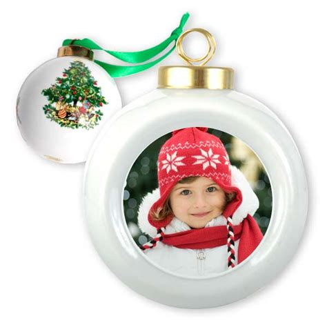personalized christmas ornament photo ball ornament