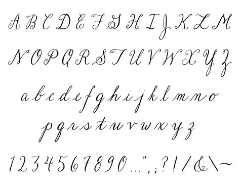 cursive fonts letters in cursive beautiful handwriting fonts la alphabet font set