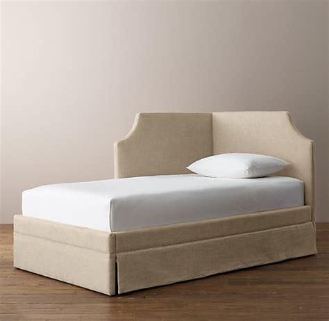 corner bed rylan upholstered corner bed