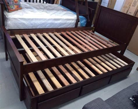 King Single Bed With Drawers by Trundle King Single Bed White With Drawers New Choc