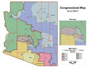 arizona senate district map az s gerrymandered congressional map seeing az