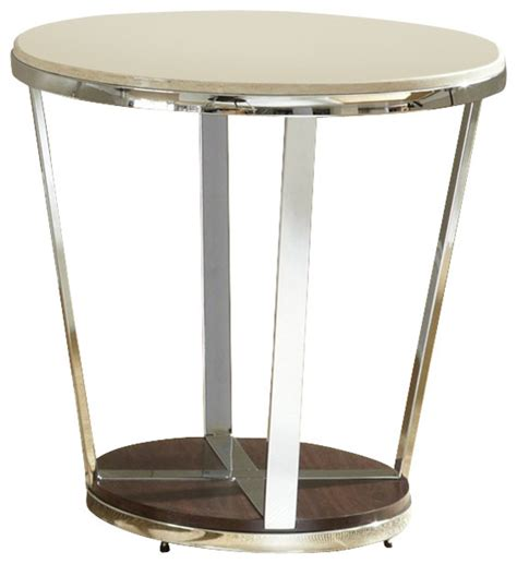 houzz end tables steve silver company bosco faux marble end table in
