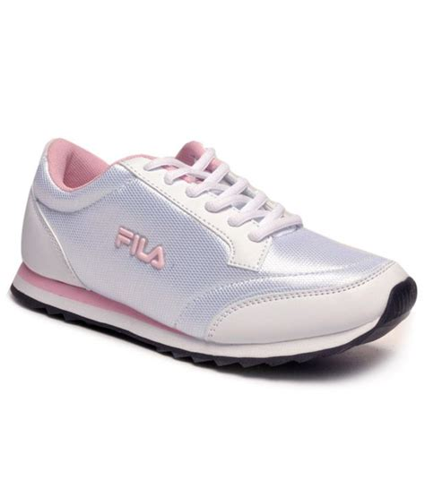 fila vapour white pink running shoes price in india buy