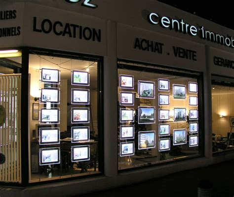 lights for window display real estate led window display light pocket