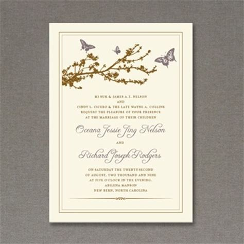 invitation template butterfly branch download print