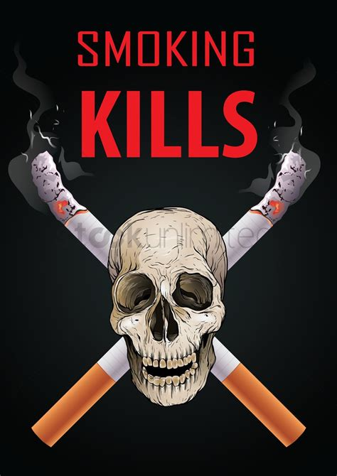 poster design on no smoking smoking kills poster design vector image 1976117