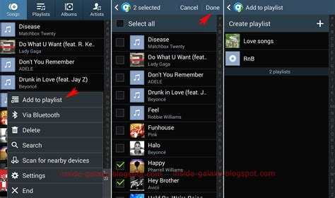 song playlist samsung galaxy s4 how to add or remove songs within