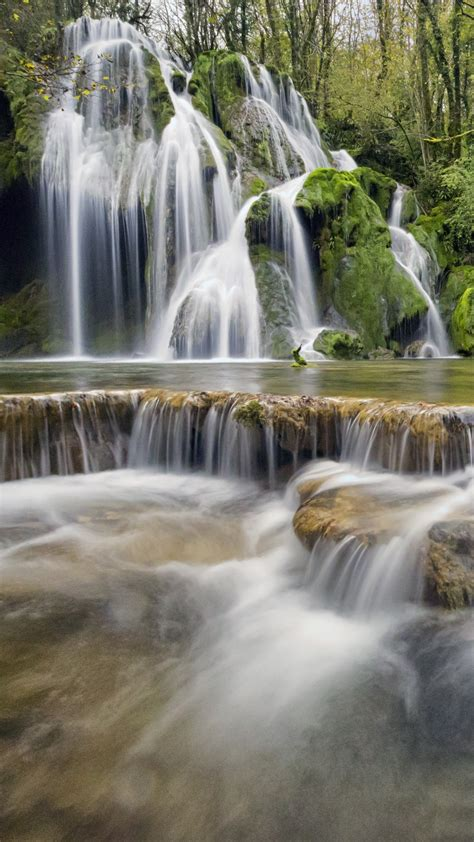 wallpaper waterfall europe  nature