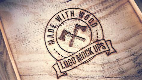 engraved wood mockup graphicburger