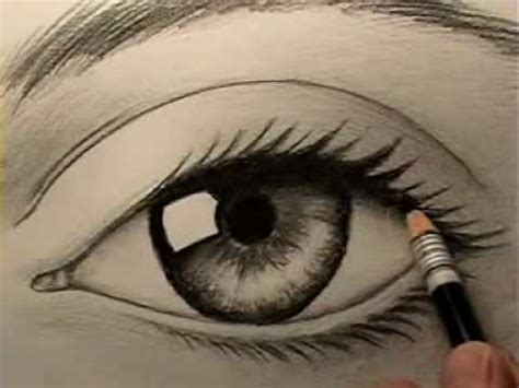 how to draw a realistic eye youtube