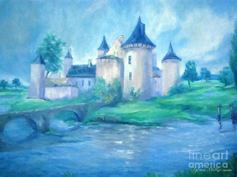 Disney Princess Wall Murals fairytale castle where dreams come true painting by glenna