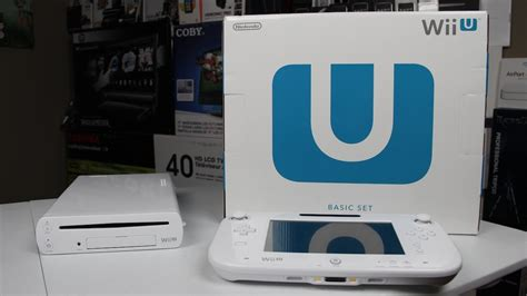 wii u white console unboxing wii u basic set
