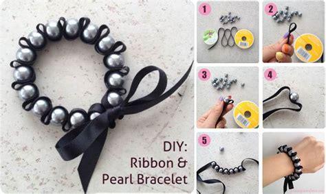 creative ideas diy and ribbon creative ideas diy stylish ribbon and pearl bracelet