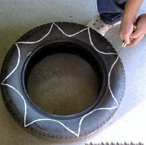 Inside Out Tire Planter by Inside Out Tire Planters Crafts And Neat Ideas