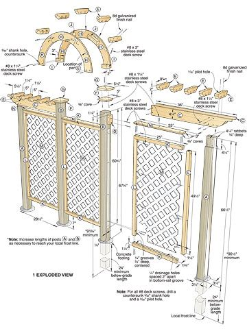 Wedding Arch Blueprint by Diy Wooden Arch Trellis Plans Plans Free