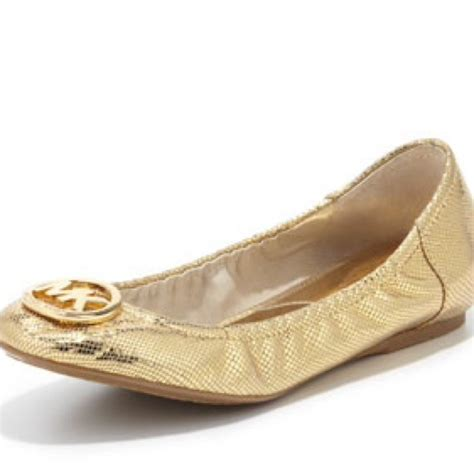 michael kors gold flat shoes 46 michael kors shoes authentic michael kors gold