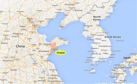 qingdao map qingdao china map images