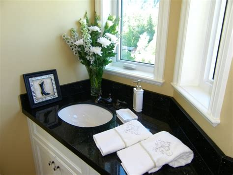black granite bathroom 21 granite bathroom countertop designs ideas plans